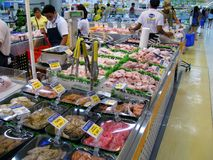 Food at the Local Supermarket. Food variety at the local supermarket in SM San Jose del Monte City Mall, Bulacan, Philippines stock images