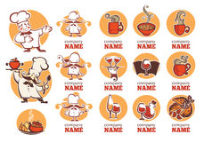 Food logo collection Royalty Free Stock Image