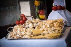 Food in London at Pasta Restaurant Stock Photo