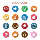 Food long shadow icons Royalty Free Stock Photo