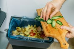 Free Food Loss And Food Waste. Reducing Wasted Food At Home. Solving The Problem Of Food Waste Royalty Free Stock Image - 176719936