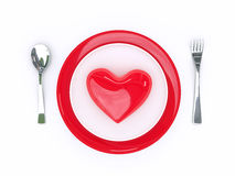 Food love royalty free illustration
