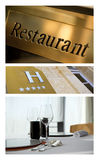 Food and luxury hotels Stock Images