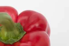 Food macro - red bell pepper / capsicum  / sweet pepper Royalty Free Stock Photography