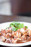 Food made ​​from squid Stock Photo