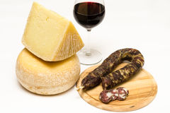 Food made in Sardegna. Various appetizers made in Sardinia royalty free stock photography