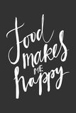 Food makes me happy.Hand lettering Royalty Free Stock Photography