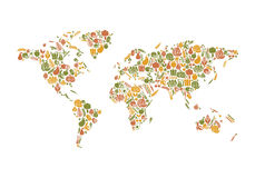 Food map Royalty Free Stock Image