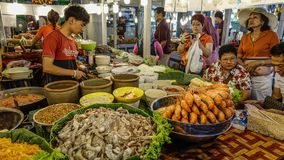 Food market in Bangkok, Thailand stock photos