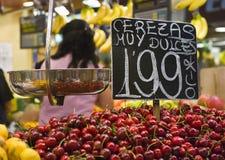 Food market Barcelona stock images