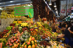 Food Market in Barcelona. Stock Photography