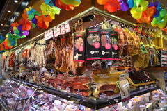 Food Market in Barcelona. Stock Images