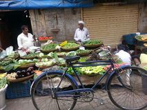 Food market. Beautiful food stall in mumbai india Royalty Free Stock Photography