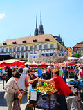 Food market, Brno Stock Photos