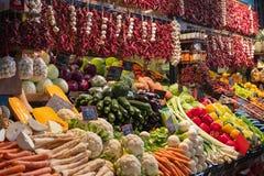 Food Market in Budapest, Hungary. stock photo