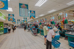 Food Market Cashiers Tills Royalty Free Stock Photo