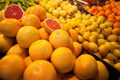 Food market closeup Stock Photos