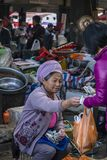 Food market,  Dali Old Town, Yunnan province, China stock images