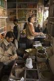 Food Market in Delhi, India Stock Image