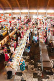 Food market in Gomel. This is an example of existing food market Stock Photos