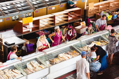 Food market in Gomel. This is an example of existing food market Royalty Free Stock Images
