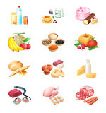 Food market icons Stock Image