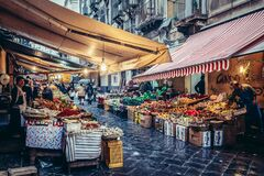 Free Food Market In Catania Royalty Free Stock Photography - 170806667