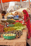 Food Market in Jaipur, Rajasthan Stock Photos