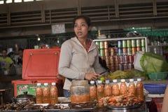 Food market in Phnom Penh  Stock Photo