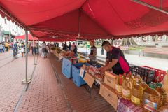 Food market in saint Ana park Panama City stock photos