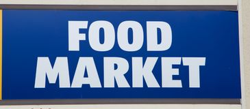 Food Market Sign Royalty Free Stock Photography
