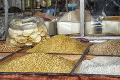 Food in a Market souk in Fes, Morocco. Royalty Free Stock Photo
