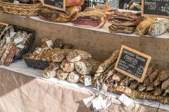 Market. Food on a Market stall Royalty Free Stock Photography