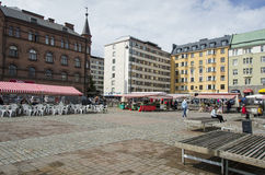 Food market in Tampere Finland royalty free stock images