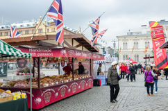 Food market in Tampere Finland Stock Images