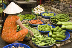 Food Market, Vietnam. Vegetables market in south Vietnam