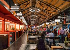 Food Market, Vila Nova de Gaia, Portugal. The fabulous Mercado Beira-Rio or Market by the River in the historic centre of Vila Nova de Gaia. The food outlets stock images