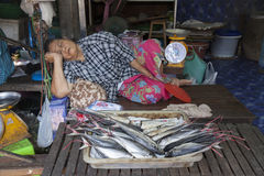 Food markets in Bangkok Royalty Free Stock Photography