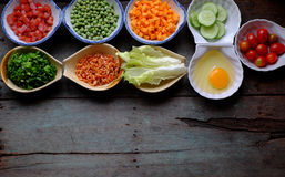 Food material for fried rice Stock Photography