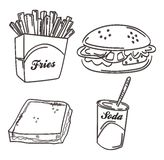 Food meal hand draw Royalty Free Stock Photography