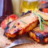 Food. Meat barbecue with vegetables Royalty Free Stock Image