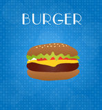 Food Menu Burger with Blue Background Stock Photography