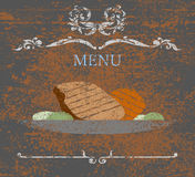 Food and menu on card sign Royalty Free Stock Photo