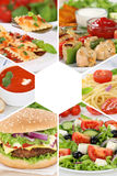 Food menu collection collage meal meals restaurant group stock image