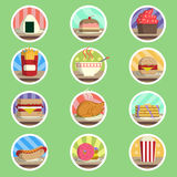 Food Menu Flat Icon Royalty Free Stock Photos