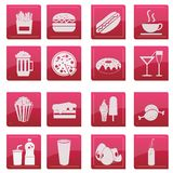 Food Menu Glossy Icon Stock Photos