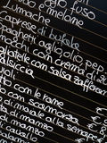 Italian Food Menu Stock Photo