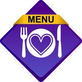 Food menu icon web button. Vector illustration isolated on white background Royalty Free Illustration