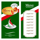 food menu italy Royalty Free Stock Photo
