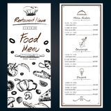 Food menu pizza ingredients fresh template backgroud cover with Royalty Free Stock Photos